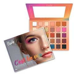 Paletka 30 očních stínů C`est La Vie (Eyeshadow Palette) 30 g