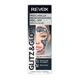 Regenerační slupovací pleťová maska Glitz and Glow (Regenerating Peel Off Black Mask) 80 ml