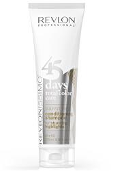 Šampon a kondicionér pro šedivé, blonďaté a barvené vlasy Issimo (Shampoo&Conditioner Stunning Highlights) 275 ml