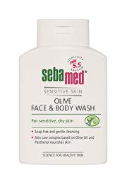 Mycí emulze s olivovým olejem na obličej a tělo Classic (Olive Face & Body Wash) 200 ml