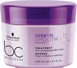 Maska pro nepoddajné a krepaté vlasy BC Bonacure Smooth Perfect (Treatment) 200 ml