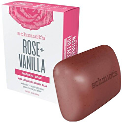 Přírodní toaletní mýdlo růže + vanilka (Bar Soap Rose + Vanilla) 142 g