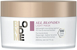 Lehká vyživující maska pro jemné a normální blond vlasy All Blondes (Light Mask) 200 ml
