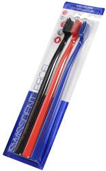 Zubní kartáček Colours Soft-Medium 2 + 1 ZDARMA (černá + červená + modrá)