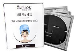 Čierna detoxikačná maska na tvár (Deep Sea Mask) 3 ks