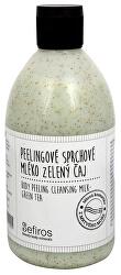 Peelingové sprchové mléko Zelený čaj (Body Peeling Cleansing Milk) 500 ml