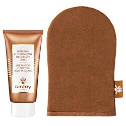Samoopalovací hydratační tělová péče s aplikační rukavicí Super Soin (Self Tanning Hydrating Body Skin Care) 150 ml