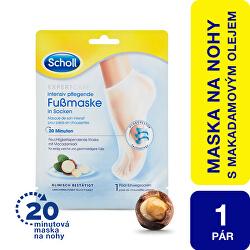 Vyživující maska na nohy s makadamovým olejem PediMask Expert Care (Foot Mask) 1 pár