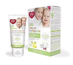 Zubní pasta pro děti jablko banán Baby + prstový kartáček 40 ml