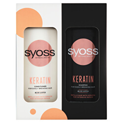 Dárková sada Premium Window Box pro snadno se lámající vlasy (Keratin Care)