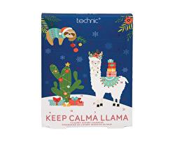 Technic Adventní kalendář koupelové péče Keep Calma Llama - SLEVA - pomačkaný obal sady