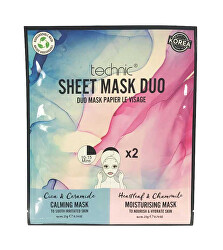 Upokojujúci a hydratačná maska Calming & Moisturising Sheet Mask Duo