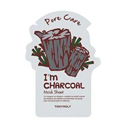 Čisticí pleťová maska s aktivním černým uhlím I´m Real (Pore Care Charcoal Mask) 21 g