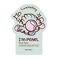 Rozjasňující pleťová maska s perlovým výtažkem I´m Real (Luminating Pearl Mask) 21 g