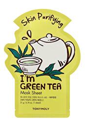 Čisticí plátýnková maska I`m Green Tea (Skin Purifying Mask Sheet) 21 ml