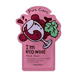 Plátýnková maska na rozšířené póry I`m Red Wine (Pore Care Mask Sheet) 21 ml