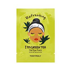 Osvěžující gelové polštářky pod oči I`m Green Tea (Refreshing Gel Eye Patch) 21 ml