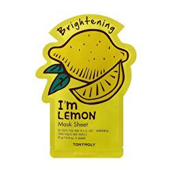 Rozjasňující plátýnková maska I`m Lemon (Brightening Mask Sheet) 21 ml