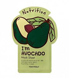 Vyživující plátýnková maska I`m Avocado (Nutrition Mask Sheet) 21 ml