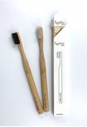 Bambusový zubní kartáček Brush Bílý 1 ks