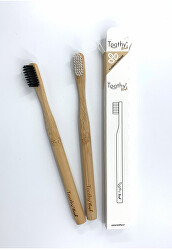 Bambusový zubní kartáček Brush Černý 1 ks