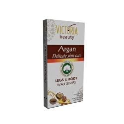 Depilační voskové pásky s arganovým olejem na nohy a tělo (Legs & Body Wax Strips) 20 ks