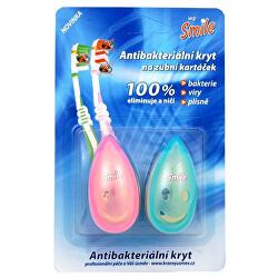 Antibakteriální kryt na zubní kartáček 2 ks