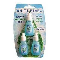 Kapky pro svěží dech White Pearl 3 x 3,7 ml