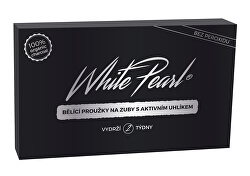 Bieliace prúžky na zuby s aktívnym uhlíkom White Pearl