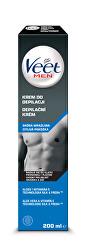 Depilační krém pro muže pro citlivou pokožku Men Silk & Fresh 200 ml - SLEVA - poškozená krabička