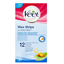 Studené voskové pásky pro citlivou pokožku 12 ks