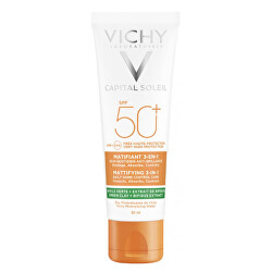 Zmatňujúci ochranný krém na tvár 3v1 Capital Soleil SPF 50+ 50 ml