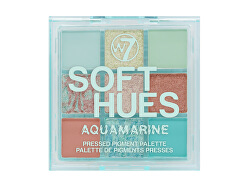 Paleta de farduri de ochi Soft Hues Aquamarine(Pressed Pigment Palette) 8,1 g