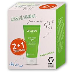 Dárková sada hydratačního a vyživujícího krému Skin Food Light 3 x 75 ml