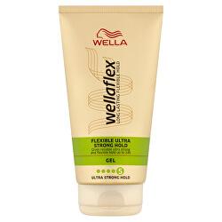 Gel na vlasy s ultra silnou fixací Wellaflex (Flexible Ultra Strong Hold Gel) 150 ml