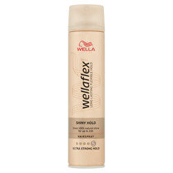 Lak na vlasy s ultra silnou fixáciou pre lesk vlasov Wella flex (Shiny Hold Hair spray) 250 ml