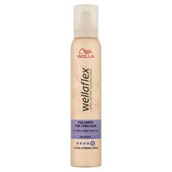 Penové tužidlo s ultra silnou fixáciou pre jemné vlasy Wella flex Fullness For Thin Hair (Mousse) 200 ml