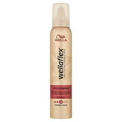 Pěnové tužidlo se střední fixací pro poškozené vlasy Wellaflex Style & Repair (Mousse) 200 ml