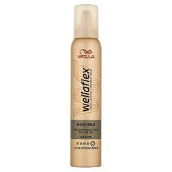 Penové tužidlo s ultra silnou fixáciou pre lesk vlasov Wella flex Shiny Hold (Mousse) 200 ml