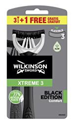 Jednorázový holicí strojek pro muže Wilkinson Xtreme3 Black Edition Comfort 3+1 ks