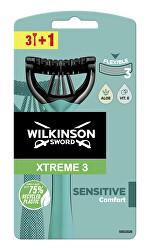Jednorázový holicí strojek pro muže Wilkinson Xtreme3 Sensitive Comfort 3+1 ks