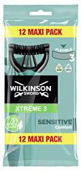 Jednorázový holicí strojek pro muže Wilkinson Xtreme3 Sensitive Comfort 12 ks