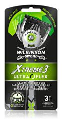 Jednorázový holicí strojek pro muže Wilkinson Xtreme 3 UltraFlex 3 ks