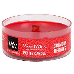 Aromatická malá svíčka s dřevěným knotem Crimson Berries 31 g