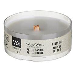 Aromatická malá sviečka s dreveným knôtom Fireside 31 g