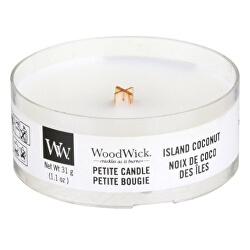 Aromatická malá svíčka s dřevěným knotem Island Coconut 31 g