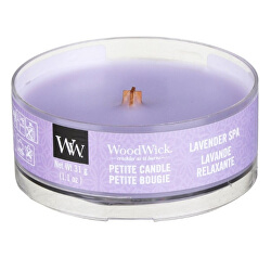 Aromatická malá svíčka s dřevěným knotem Lavender Spa 31 g