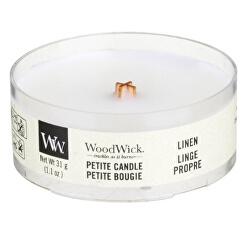 Aromatická malá svíčka s dřevěným knotem Linen 31 g