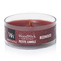 Aromatická malá svíčka s dřevěným knotem Redwood 31 g