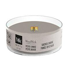 Aromatická malá svíčka s dřevěným knotem Sacred Smoke 31 g